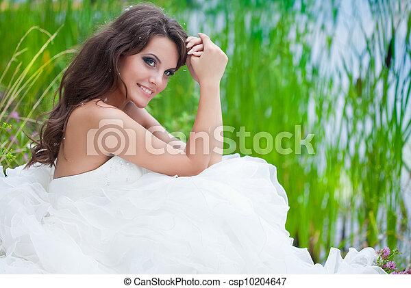 A bride in the field - csp10204647