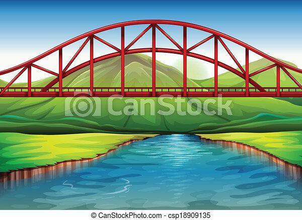 A bridge above the river - csp18909135