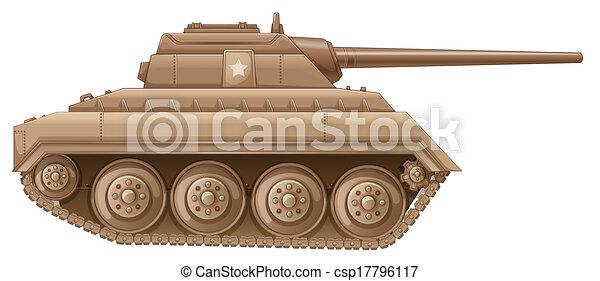 A brown military tank - csp17796117