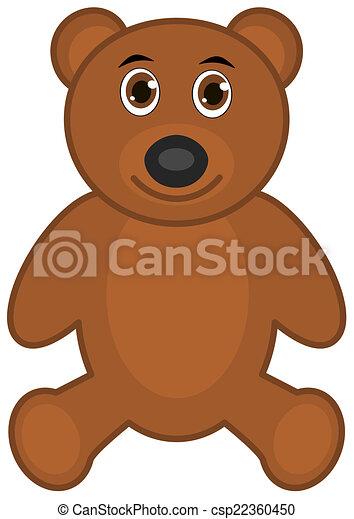 a brown teddy bear smiling - csp22360450