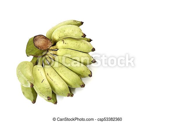 A bunch of green bananas - csp53382360