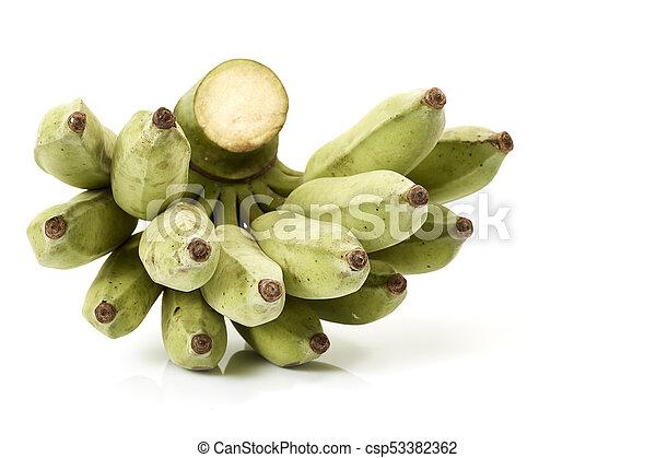 A bunch of green bananas - csp53382362
