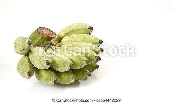 A bunch of green bananas - csp54442229