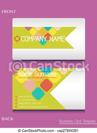 A business card template on a pink background vector search clip a business card template csp27844381 colourmoves