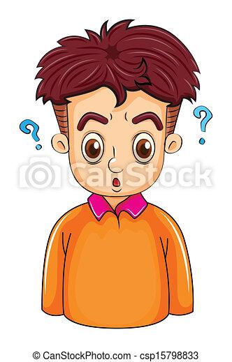 A businessman thinking - csp15798833