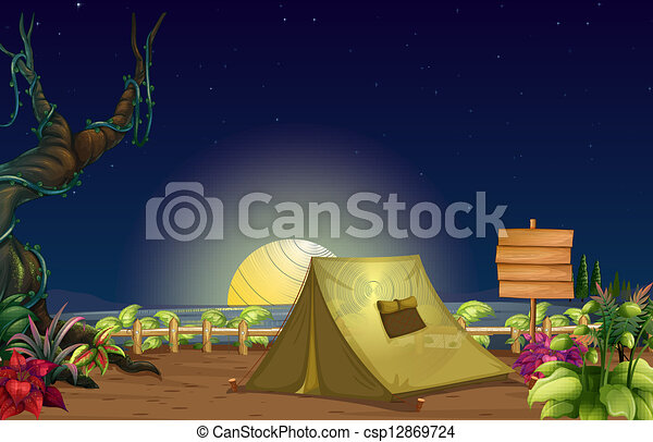 A campsite - csp12869724