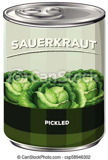A Can of Sauerkraut - csp58946302