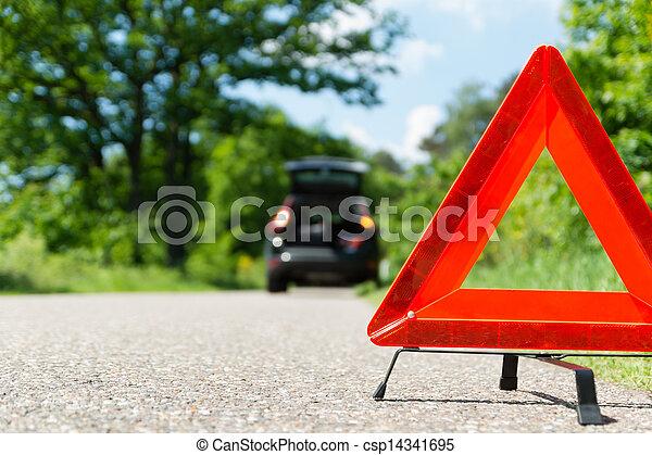 A car with a breakdown - csp14341695