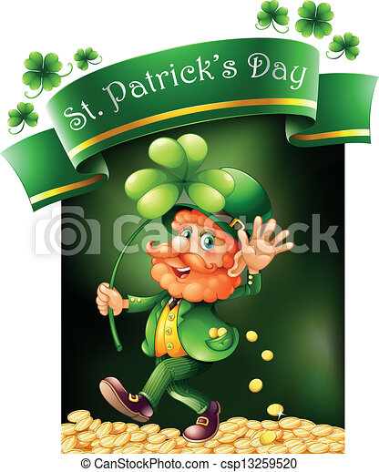 A card template for St. Patrick's Day - csp13259520