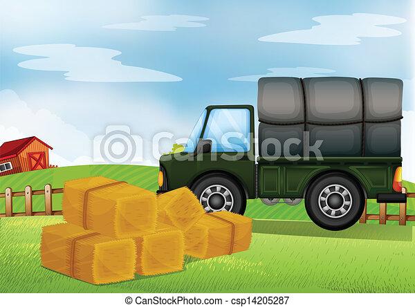 A cargo car at the farm - csp14205287