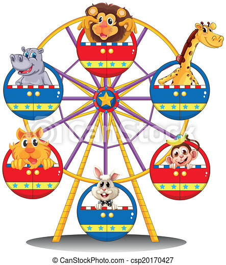 A carnival ride with animals - csp20170427