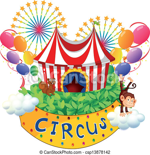 A carnival with a circus signboard - csp13878142