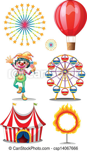 A carnival with clown - csp14067666