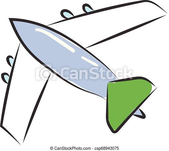 A Cartoon Aircraft Vector Or Color Illustration A Cartoon Aircraft Which Is Colorfully Designed Vector Color Drawing Or Illustration