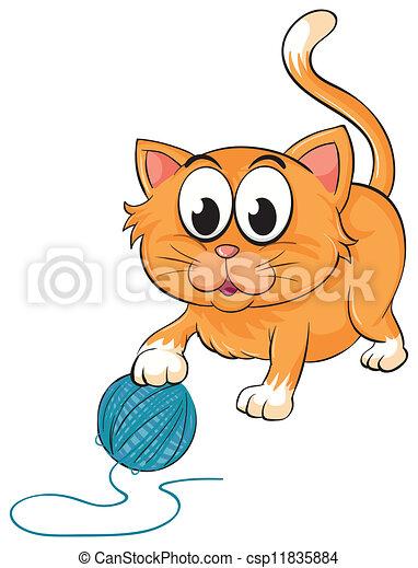 a cat - csp11835884