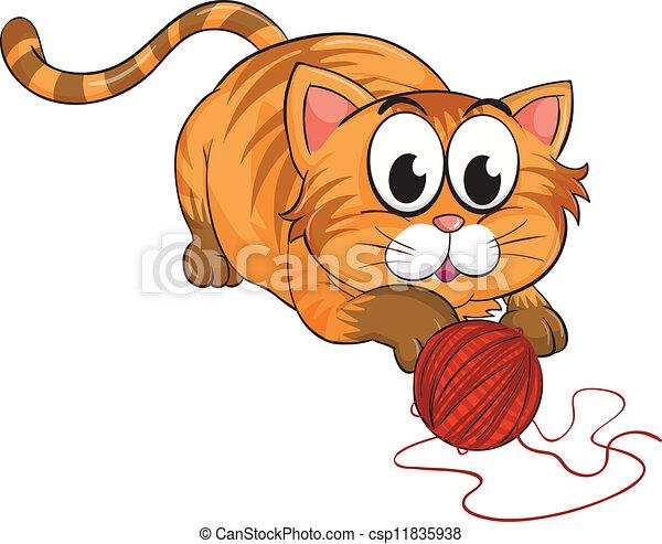 a cat - csp11835938