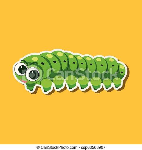 A caterpillar sticker character - csp68588907