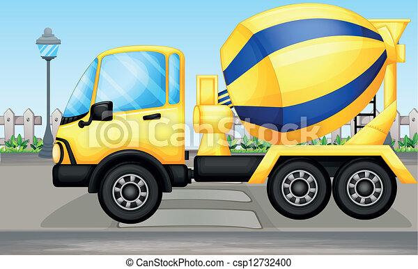 A cement truck - csp12732400