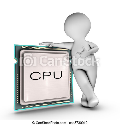 A character relies on a powerful CPU (Central processing unit) - csp8730912