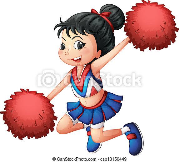 A cheerleader dancing - csp13150449