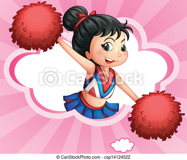 A cheerleader inside a cloud - csp14124522