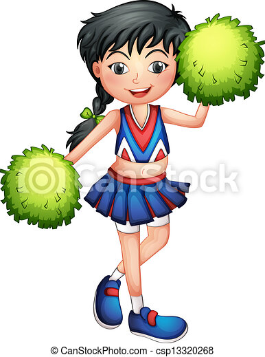 cheerleaders clipart and stock illustrations 2 290 cheerleaders rh canstockphoto com clipart images of cheerleaders free printable clipart of cheerleaders