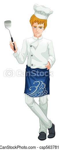 A Chef on White Background - csp56378141