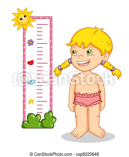 Stock Illustration Of A Child And The Height