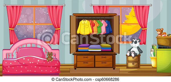 A child bedroom template - csp60668286