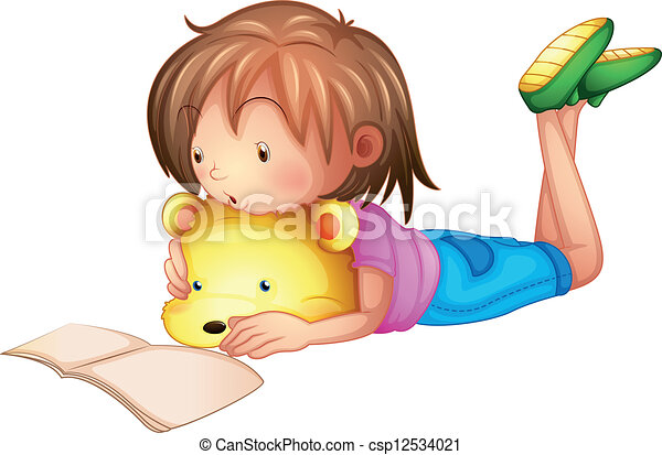 A child studying - csp12534021