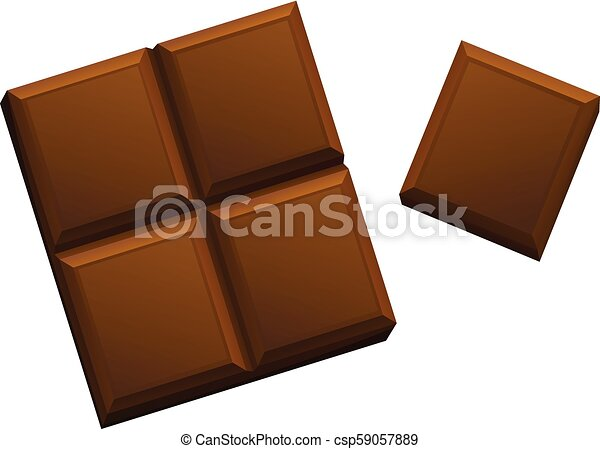 A Chocolate on White Background - csp59057889