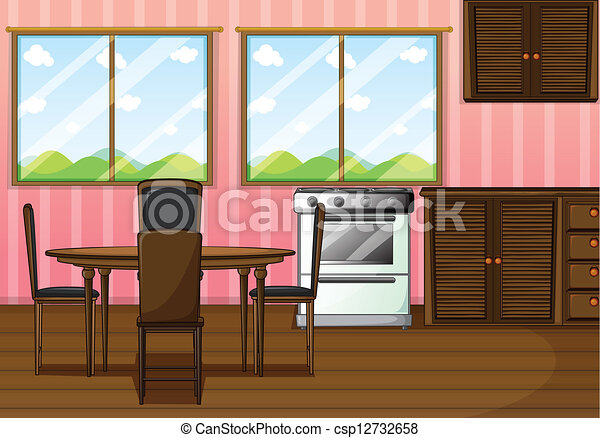 Beautiful A Clean Dining Room   Csp12732658