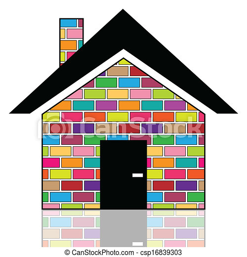 A colorful house. Illustration of colorful houses on a ...