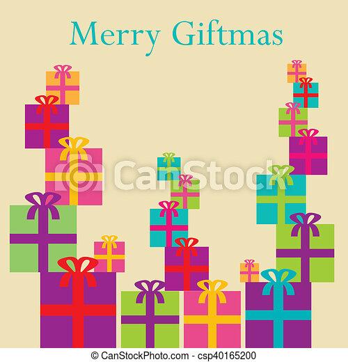 A colorful whimsical Christmas back - csp40165200