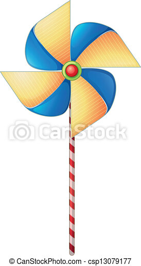 A colorful windmill toy - csp13079177