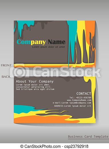A colourful calling card on a gray background vector clip art a colourful calling card vector reheart Gallery