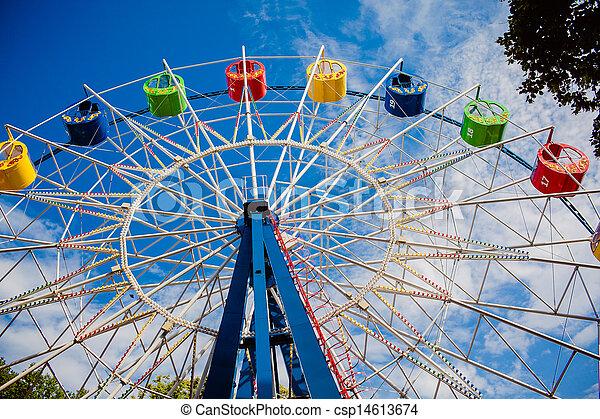 A colourful ferris wheel - csp14613674