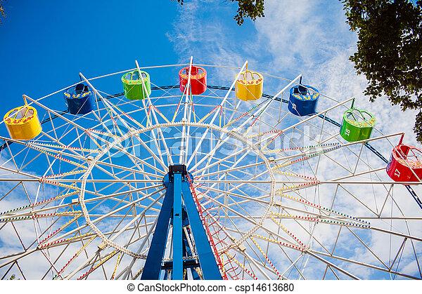 A colourful ferris wheel - csp14613680