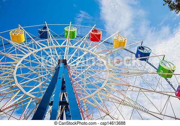 A colourful ferris wheel - csp14613688