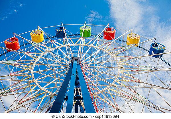 A colourful ferris wheel - csp14613694