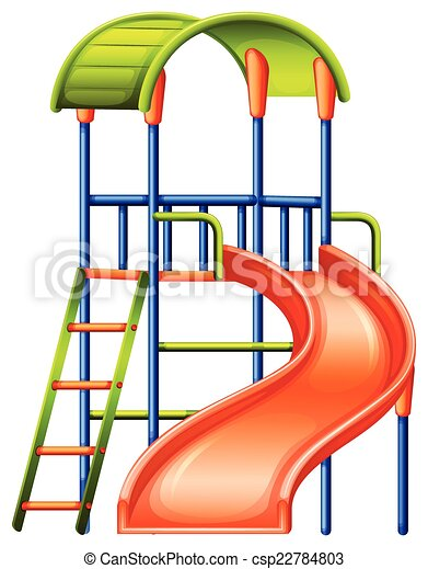 A colourful slide at the park - csp22784803
