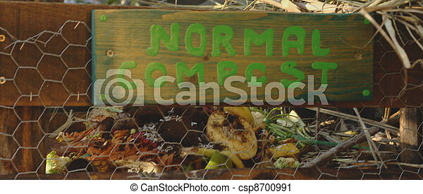 A compost bin, for organic garbage. - csp8700991