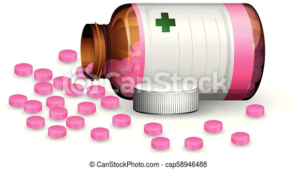 A Container of pill - csp58946488