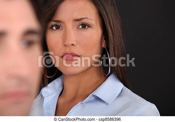 A couple having an argument. - csp8586396