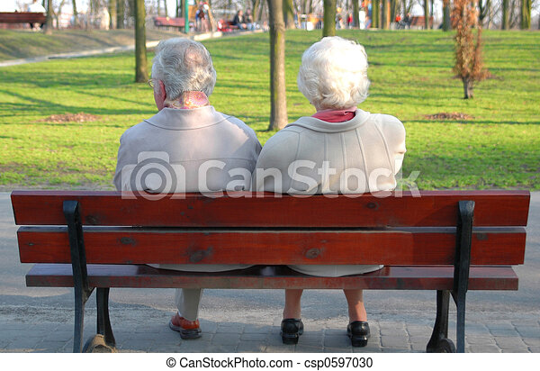 A couple of seniors - csp0597030
