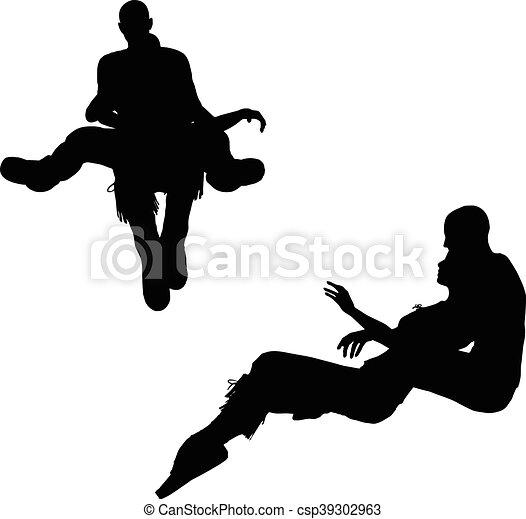 a couple silhouette - csp39302963