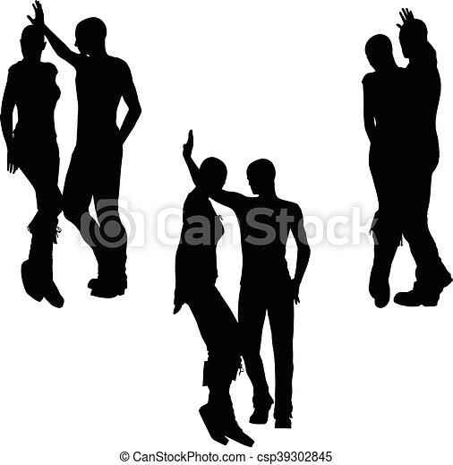 a couple silhouette - csp39302845