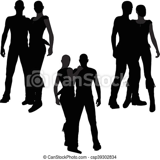 a couple silhouette - csp39302834