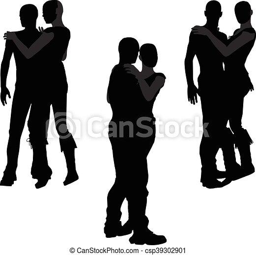 a couple silhouette - csp39302901