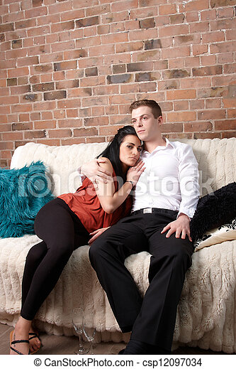 A couple sitting together  - csp12097034